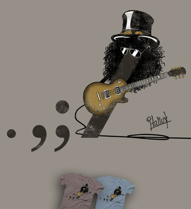 Period, comma, semicolon and SLASH ! ! ! ! by italiux on Threadless