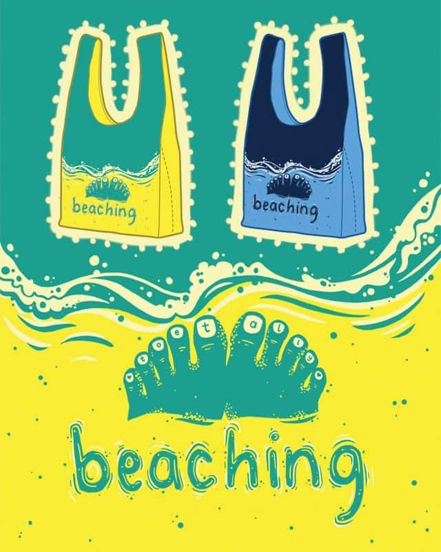 Toe-tally Beaching! by The Escape Artist on Threadless