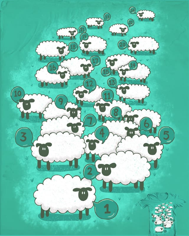 counting sheep by CazKing on Threadless