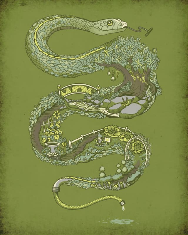 Garden Snake by jewelwing on Threadless