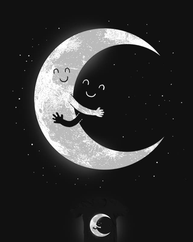 Moon hug by digitalcarbine on Threadless