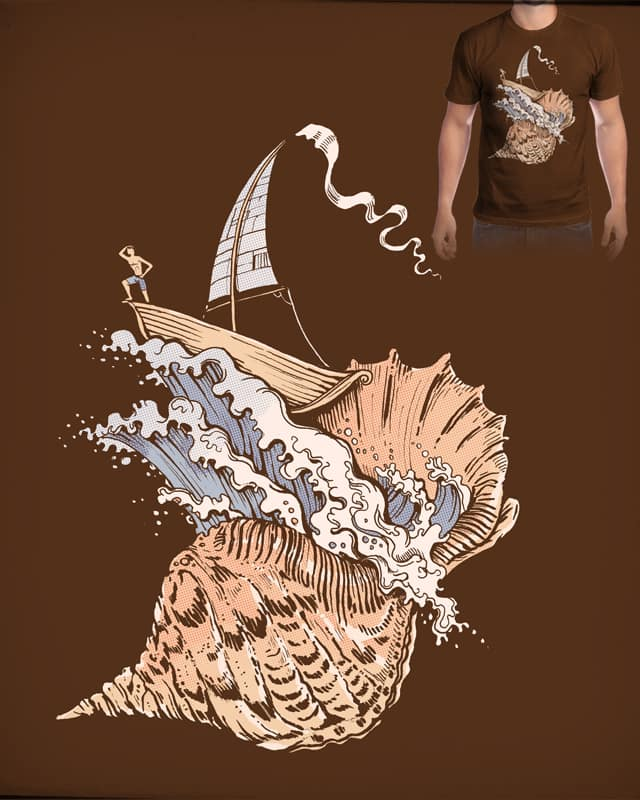 The ocean in the shell by tolagunestro on Threadless