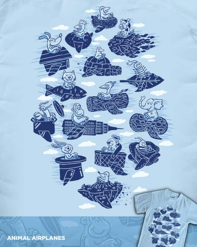 Animal Airplanes by WanderingBert on Threadless
