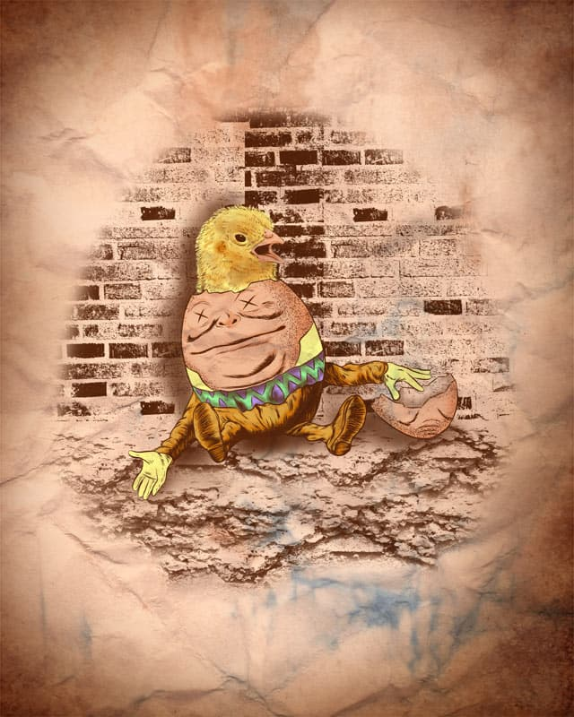 A chicken coming out of an egg by kooky love on Threadless