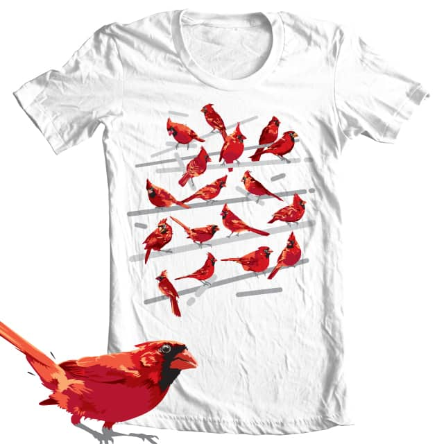 17 cardinals by upso on Threadless
