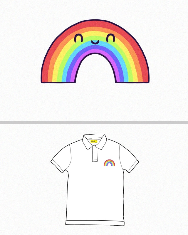 Happy Rainbow by randyotter3000 on Threadless