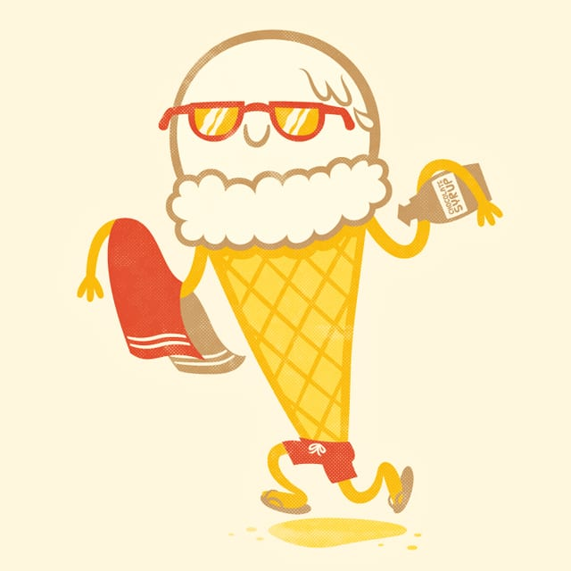 Ice Cream Beach Party by pilihp on Threadless