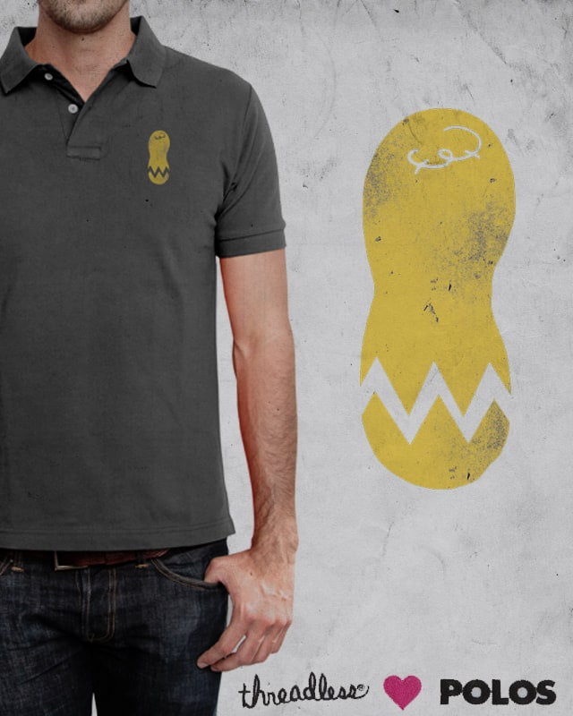cracked peanut polo by jerbing33 on Threadless