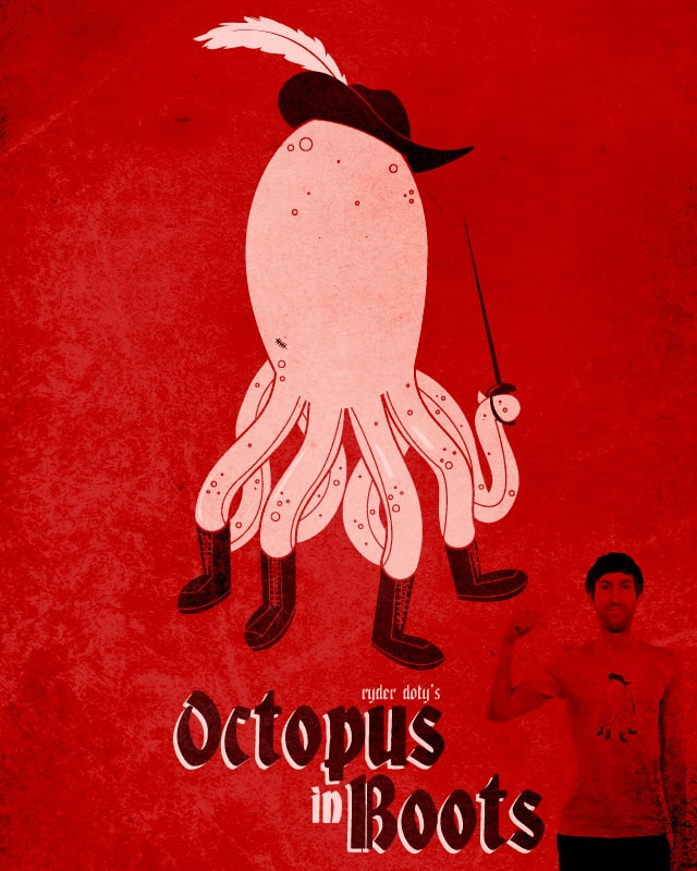 Octopus in Boots by Ryder on Threadless