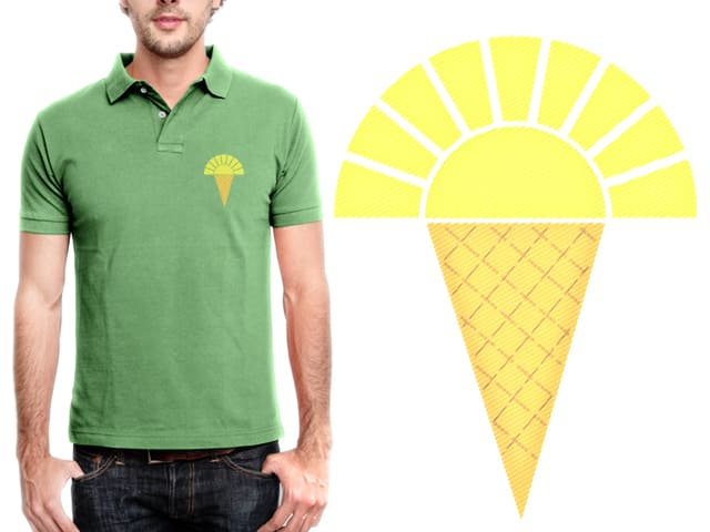 Sunshine Ice (polo) by Bramish on Threadless