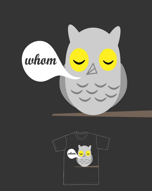 The Grammatically Correct Owl by keejmedia on Threadless