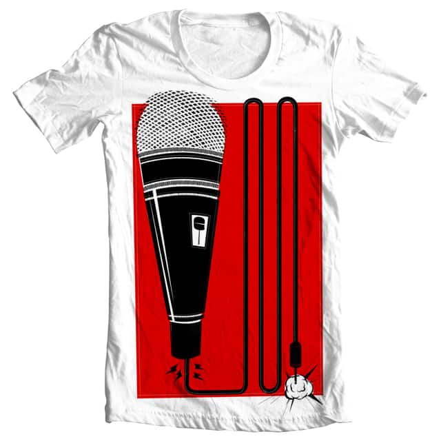 Microphone by Landon Sheely on Threadless