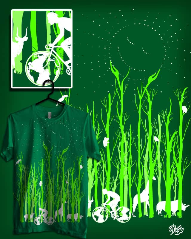 Hi World! Let's Go Green by deyaz on Threadless