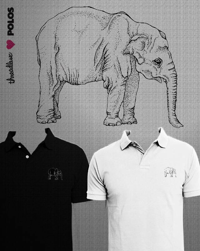 Thoughtfull Elephant by camilaplate on Threadless