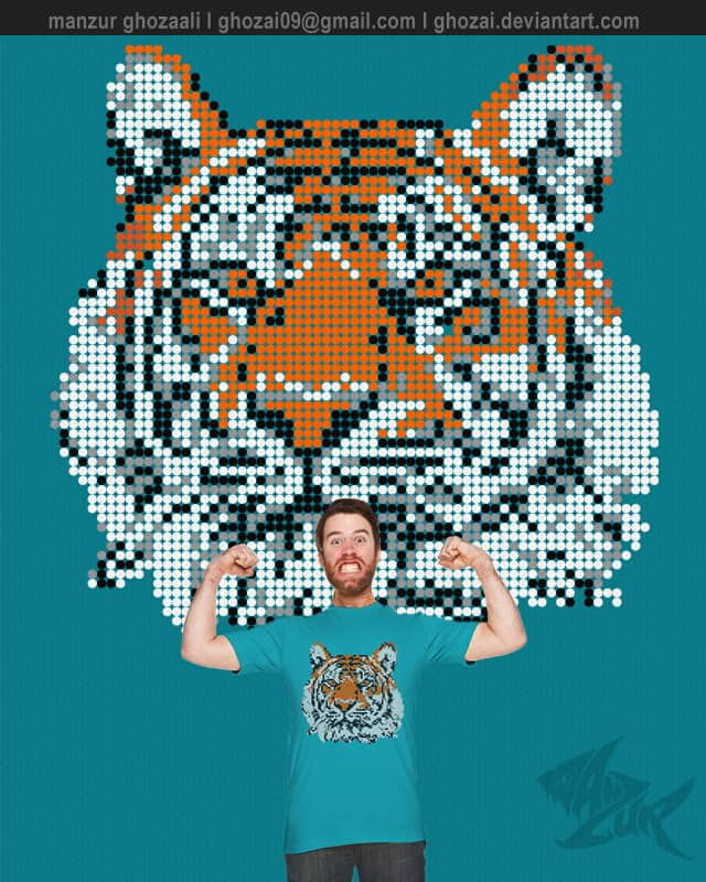 tiger dot by ghozai on Threadless