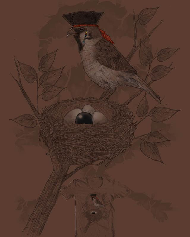 Sparrow and the Pearl by rejagalu on Threadless