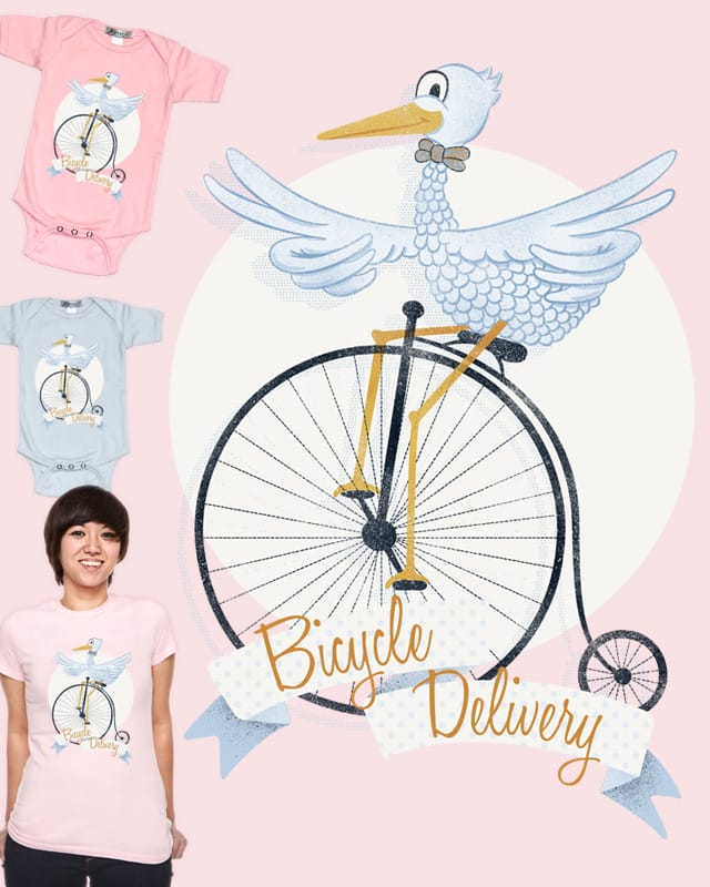 Bicycle Delivery! by Landon Sheely on Threadless