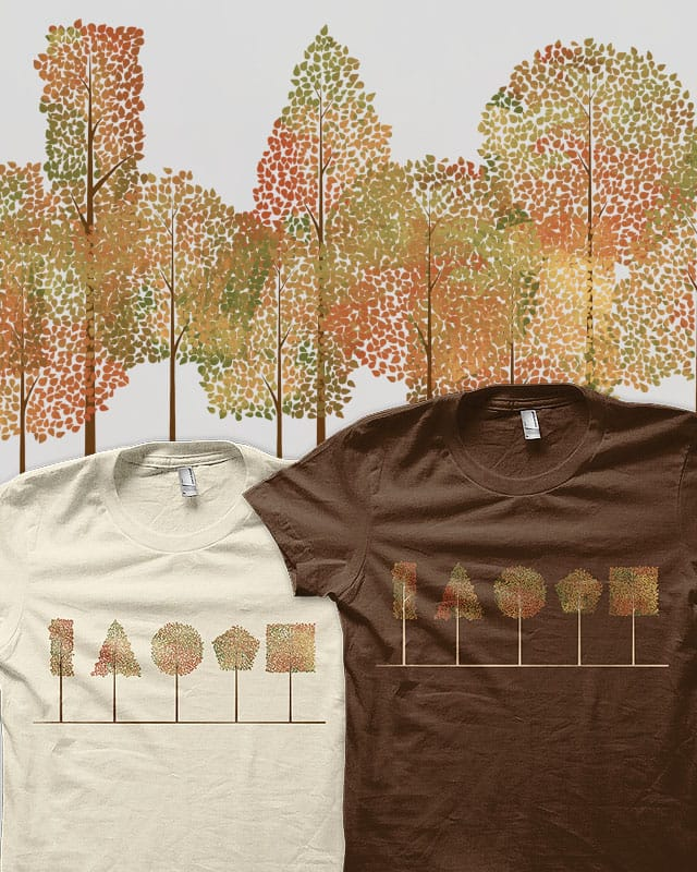 Shapes of the Forest v2 by tylerbramer on Threadless