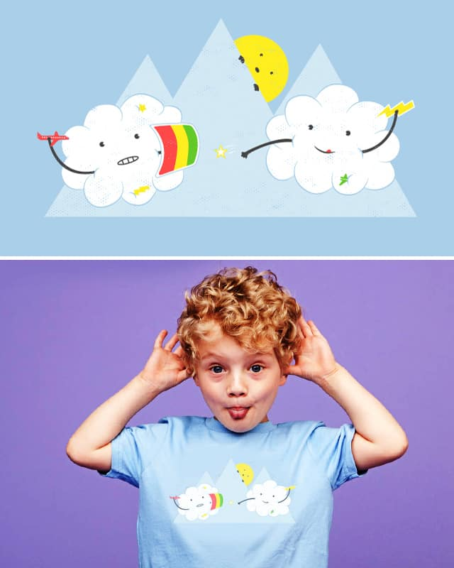 Cloud Fight by addu on Threadless