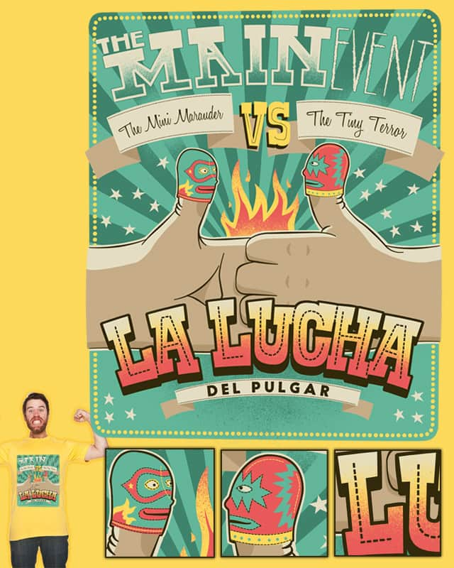 Luchador! by Landon Sheely on Threadless