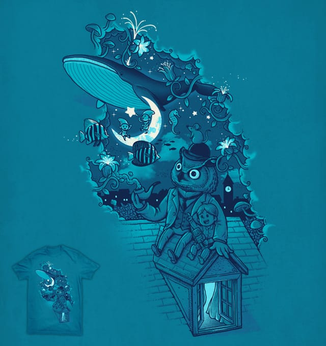 Floating Night by ben chen on Threadless