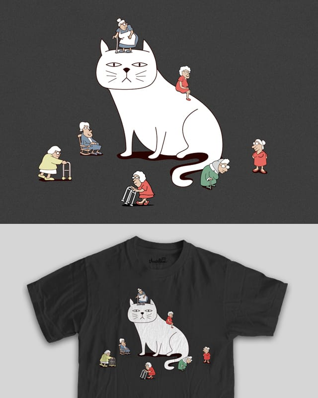 Crazy Lady Cat by davidfromdallas on Threadless