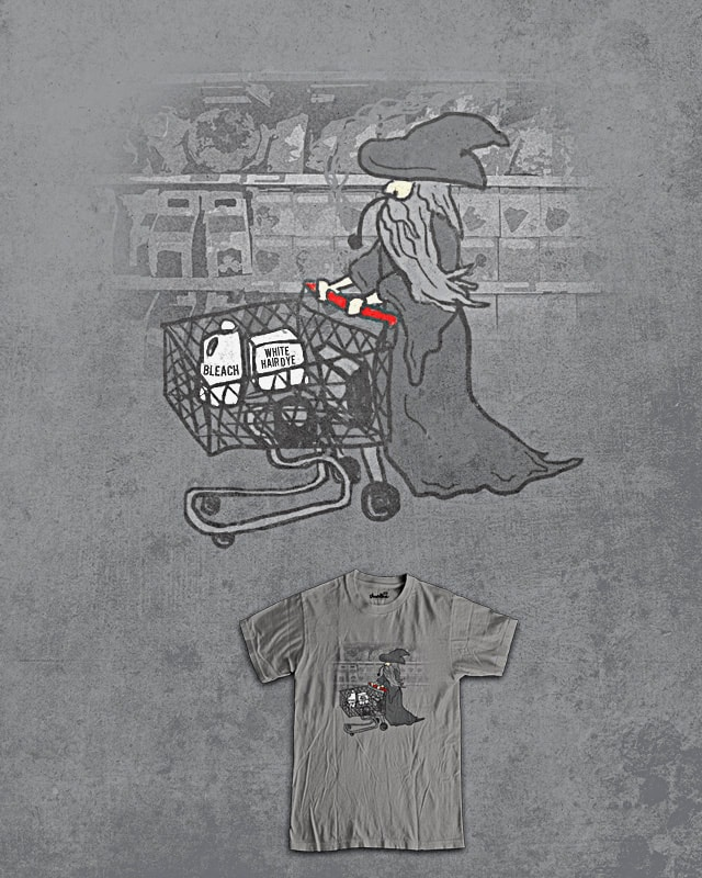 Becoming Gandalf the White by jerbing33 on Threadless