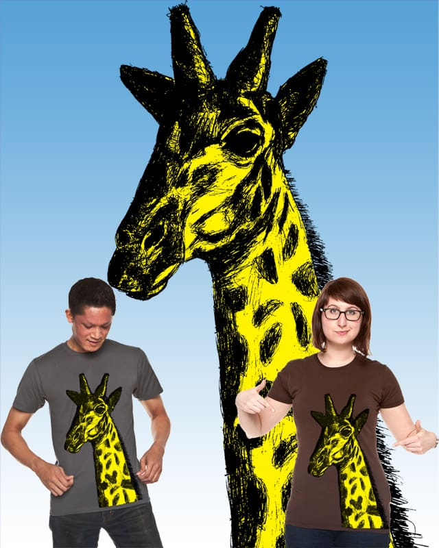 The Giraffe (giraffa camelopardalis) by sixesandsevens on Threadless
