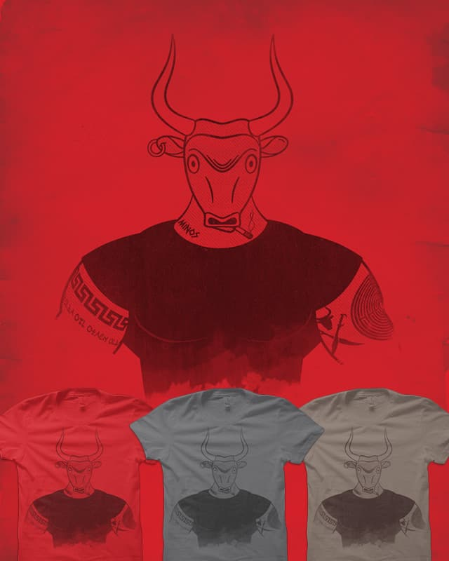 Angry Young Minotaur by quick-brown-fox on Threadless