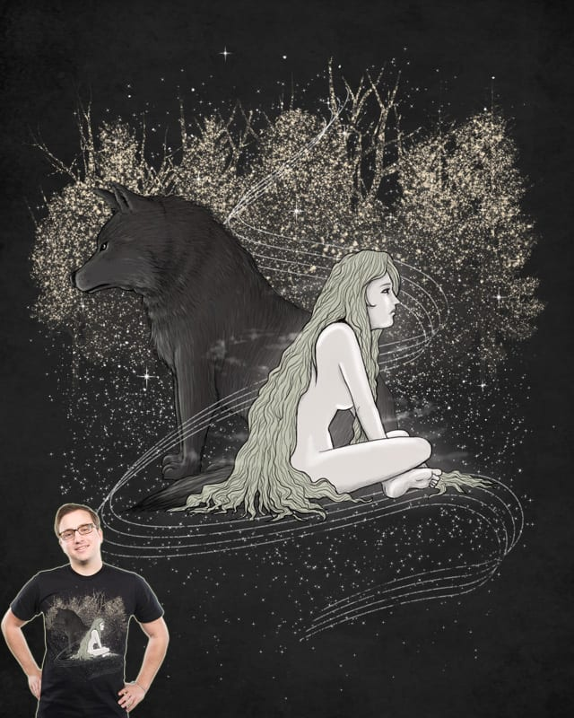 The Wolf and the Moon by babitchun on Threadless