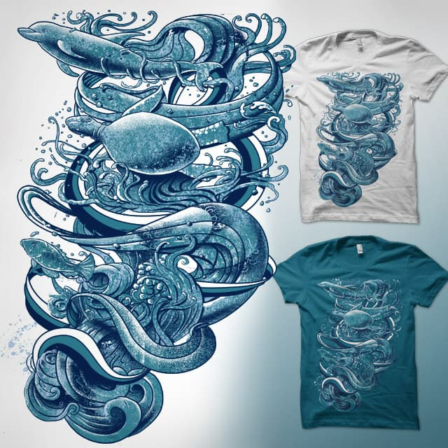 Wave Riders by qetza on Threadless