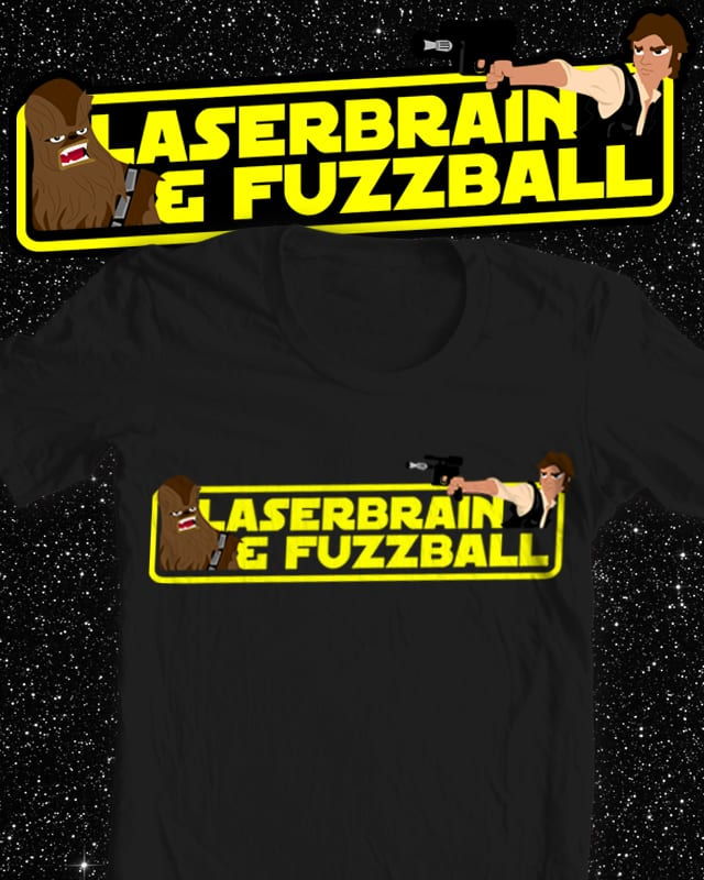 Laserbrain & Fuzzball by renduh on Threadless