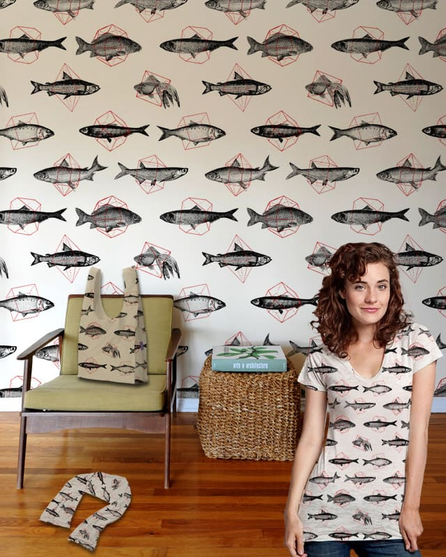 Fishes In Geometrics by speakerine on Threadless