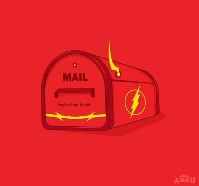 Faster than E-mail by addu on Threadless