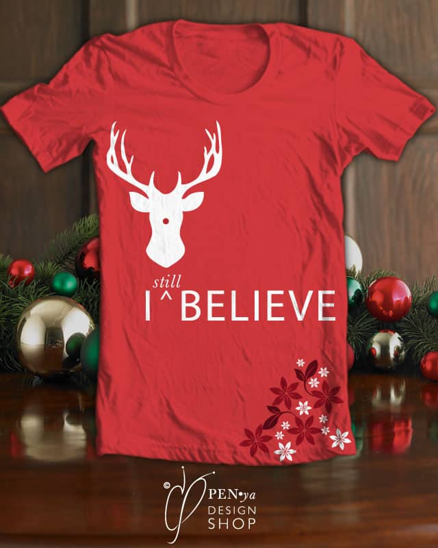 I still believe...in rudolph the red nosed reindee by penyadesignstudio on Threadless