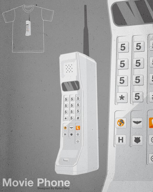 Movie Phone (555-555-5555) by Ryder on Threadless