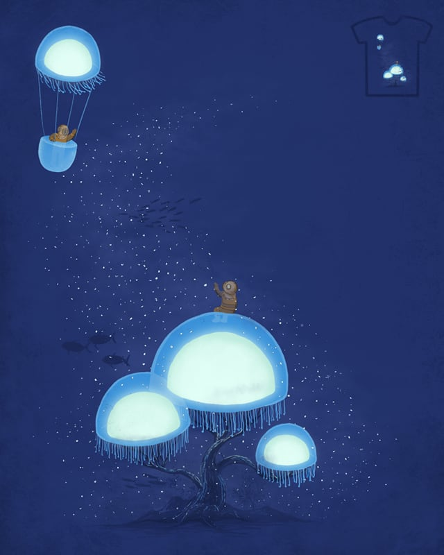 Farewell, My Jellyfish-flying Friend by darel on Threadless
