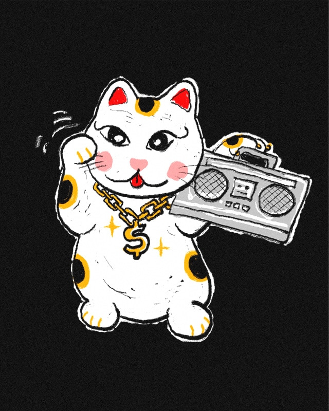 Maneki Neko Yo Yo by kooky love on Threadless