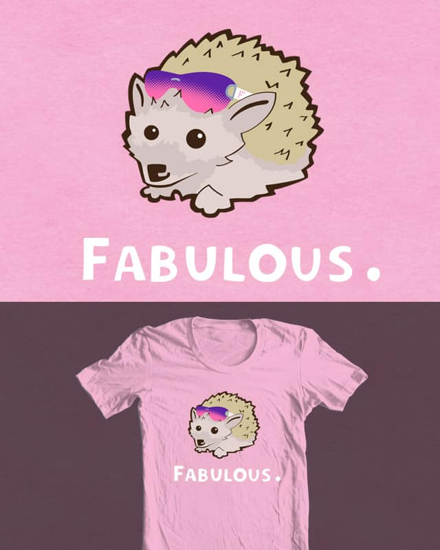 Fabulous the Hedgehog by kylewalters on Threadless