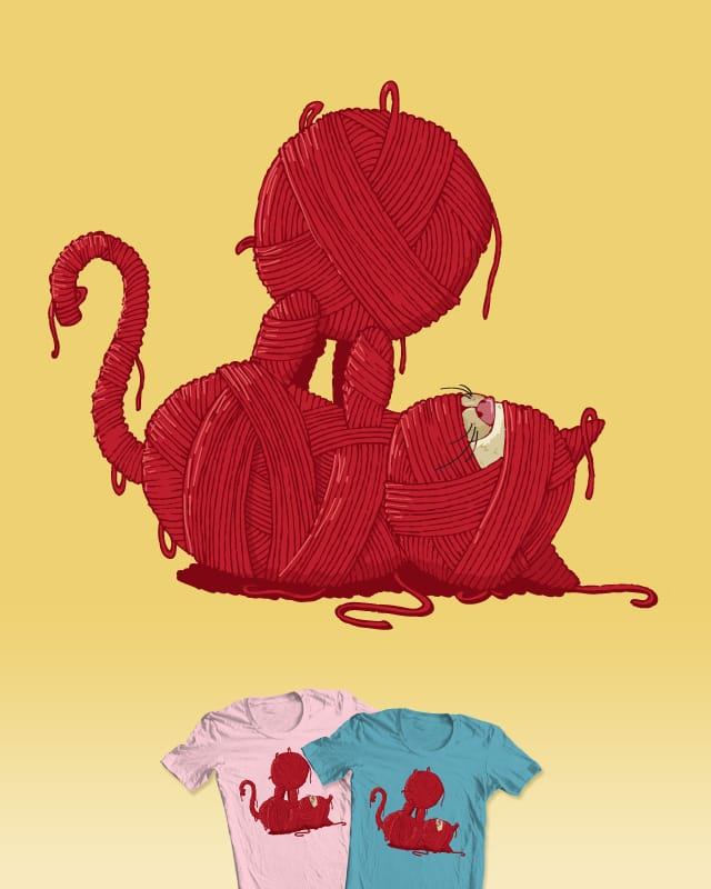 Yarn vs. Cat 1:0 by ch3k on Threadless