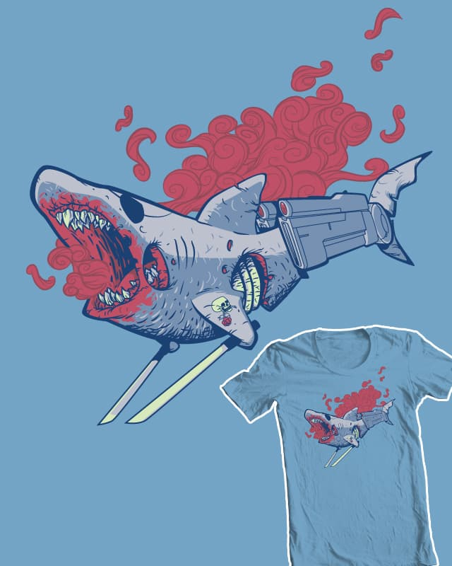 Cyborg Pirate Ninja Shark of the Living Dead! by NikHolmes on Threadless