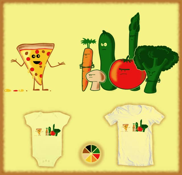 Pizza is Not a Vegetable by Bio-bot 9000 on Threadless