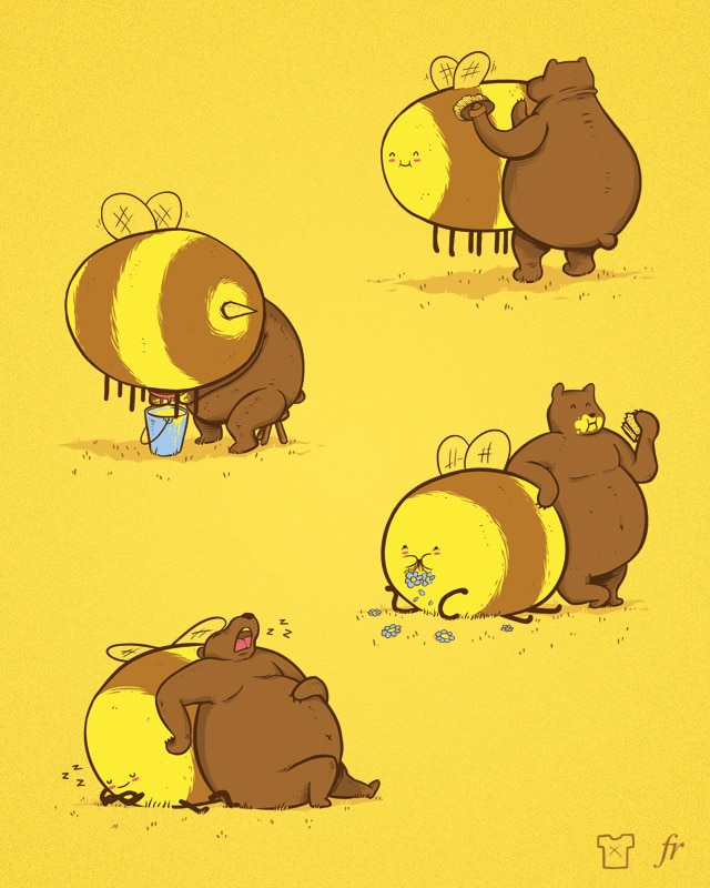 You can't spell Bear without a big Bee by fuloprichard on Threadless