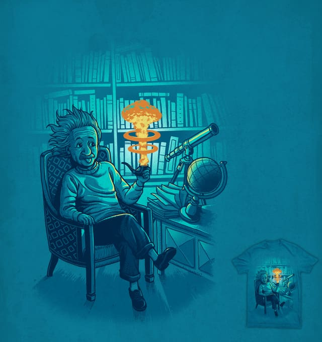 Einstein's Pipe by ben chen on Threadless