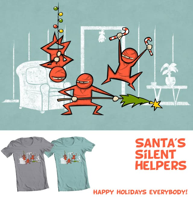 Santa's Silent Helpers by Goto75 on Threadless