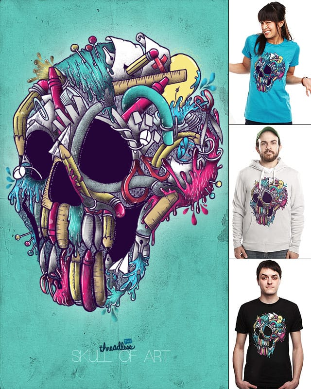Skull of Art by anwarrafiee on Threadless