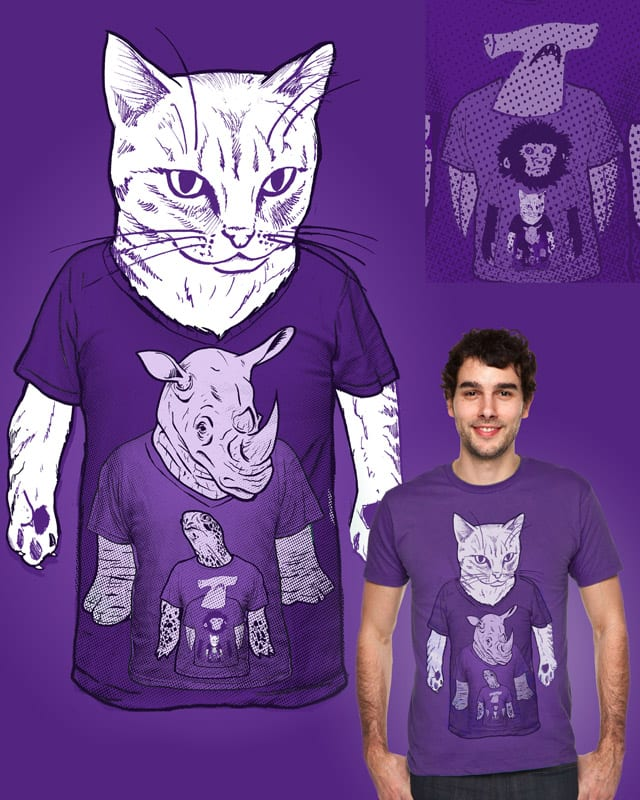 You Wearing Animals Wearing Animals Ad Infinitum by robbielee on Threadless