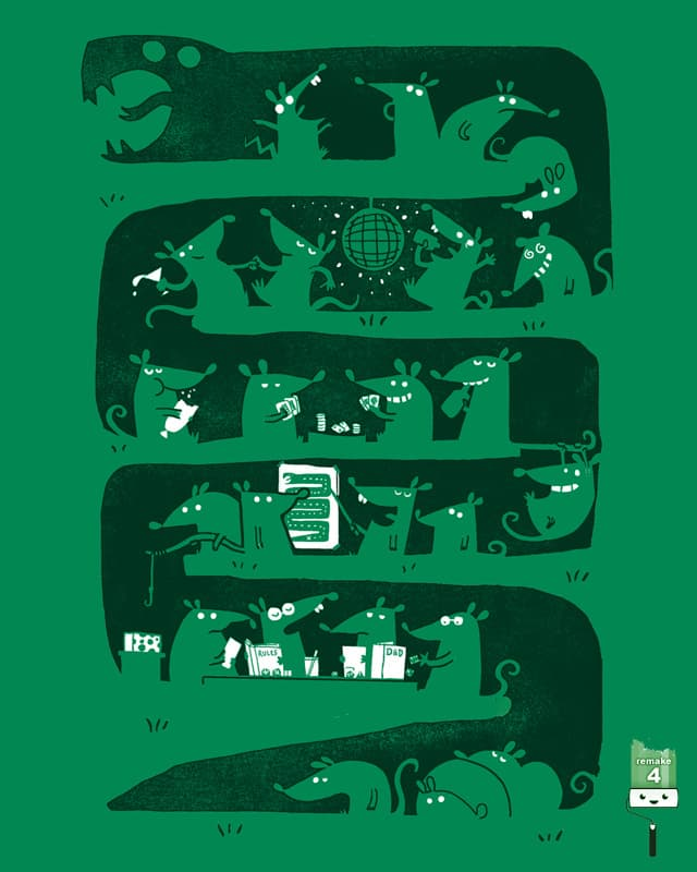 There's a party in my snake by queenmob on Threadless