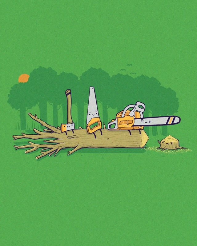 Cut down to size by randyotter3000 on Threadless