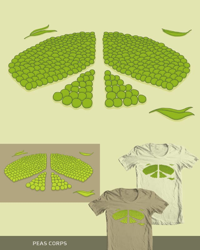 Peas Corps by bottleHeD on Threadless